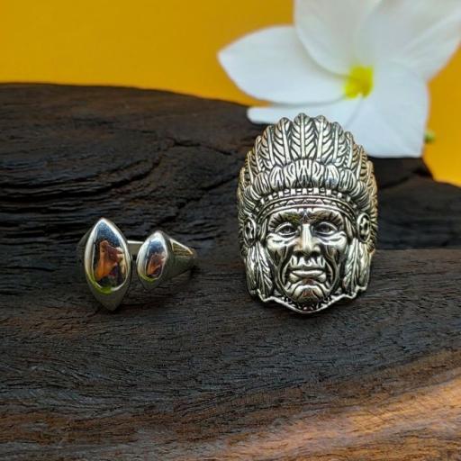 Gorilla Face 925 Sterling Silver Bohemian Handmade Adjustable Ring