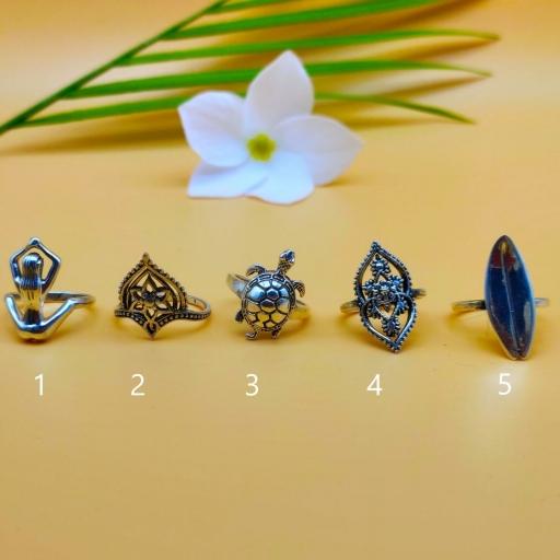 925 Sterling Silver Handmade Bohemian Tortoise  Design Stacking Ring
