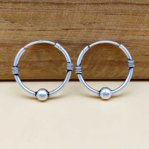 Simple Minimalistic 925 Sterling Silver Vintage Traditional Design Light Weight Earring
