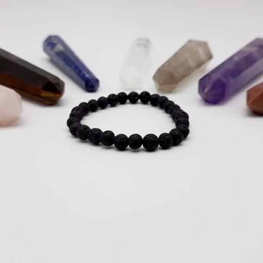 Handmade Designer Natural Volcanic Lava Beaded Bracelet For Yoga And Meditation