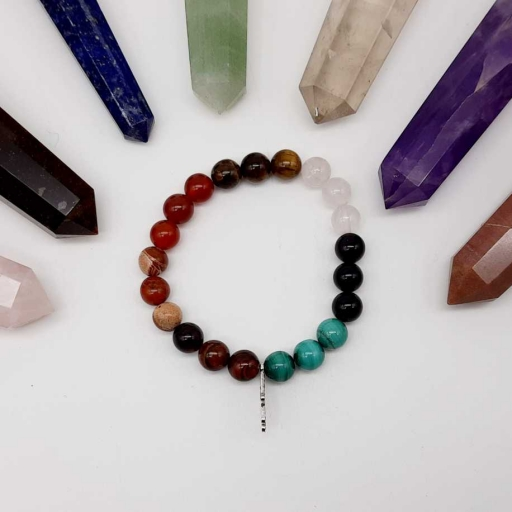 Handmade Designer Natural Mix Gemstone Beaded Bracelet For Yoga And Meditation