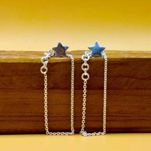 Star Shape 925 Sterling Silver Bohemian Cuff Earring