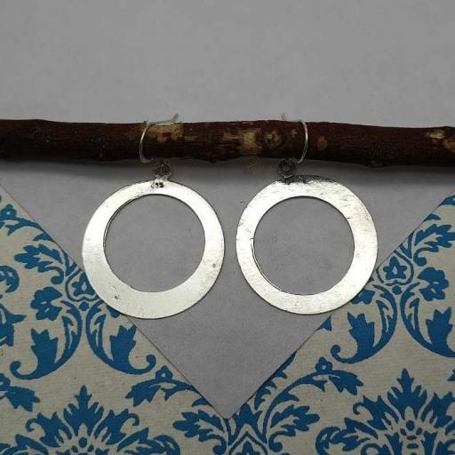 Round Shape 925 Sterling Silver Bohemian Earring