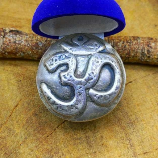 925 Sterling Silver Handmade Om Symbol Bohemian Tribal Ring