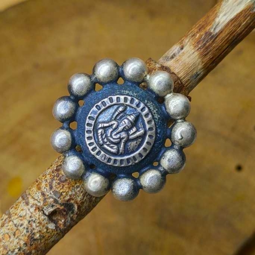 925 Sterling Silver Handmade Lord Ganesh Design Symbol Vintage Tribal Ring