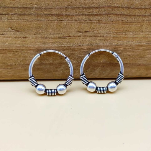 Bohemian 925 Sterling Silver Dainty Hoop Earring