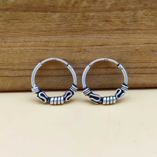 Authentic Handcrafted Party Wear 925 Sterling Silver Earring For Her Gift