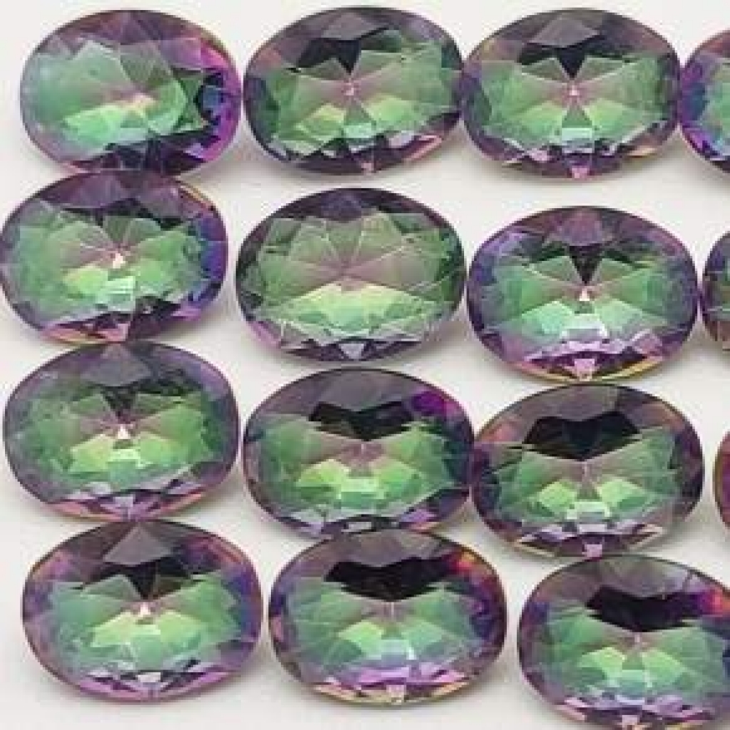 6*8mm Oval Shape Faceted Mystic Topaz Loose Gemstone Lot Of 25 pcs