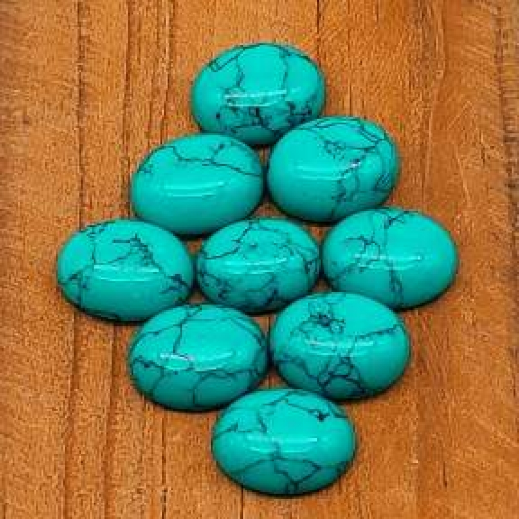 10*12mm Oval Shape Loose Manmade Turquoise Gemstone AAA+ Quality Calibrated Cabs