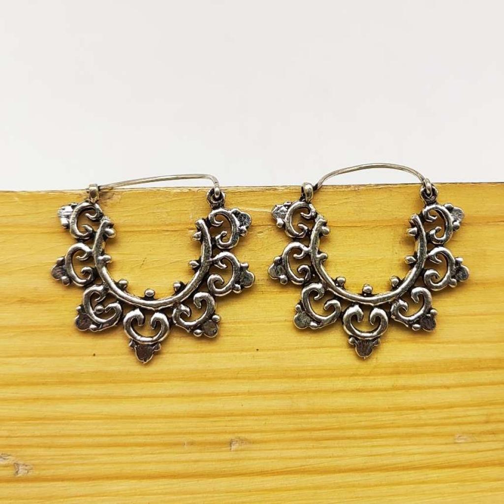 925 Sterling Silver Tribal Handmade Earring Jewelry