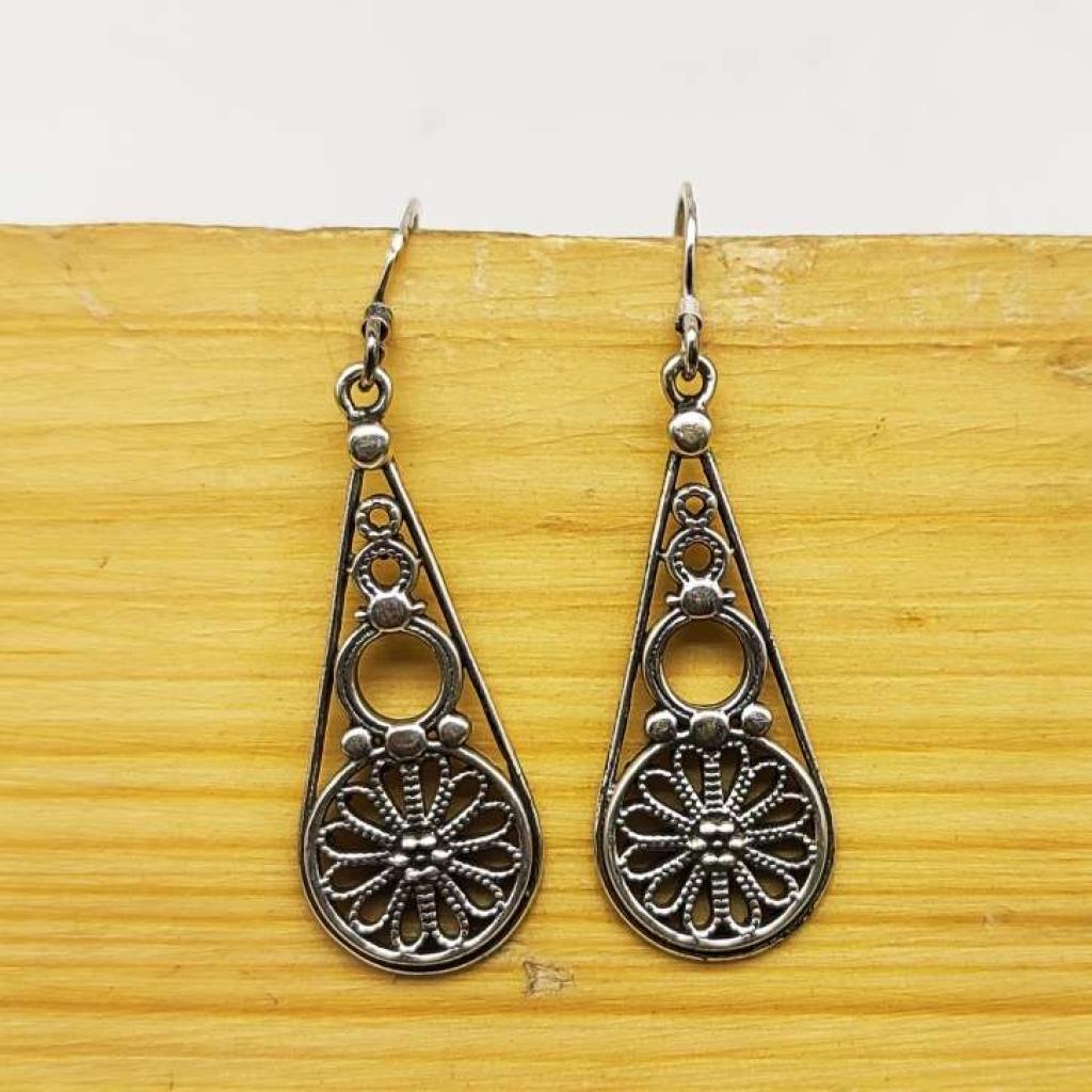 925 Sterling Silver Luxor Earring Mandala Earring Handmade Jewelry