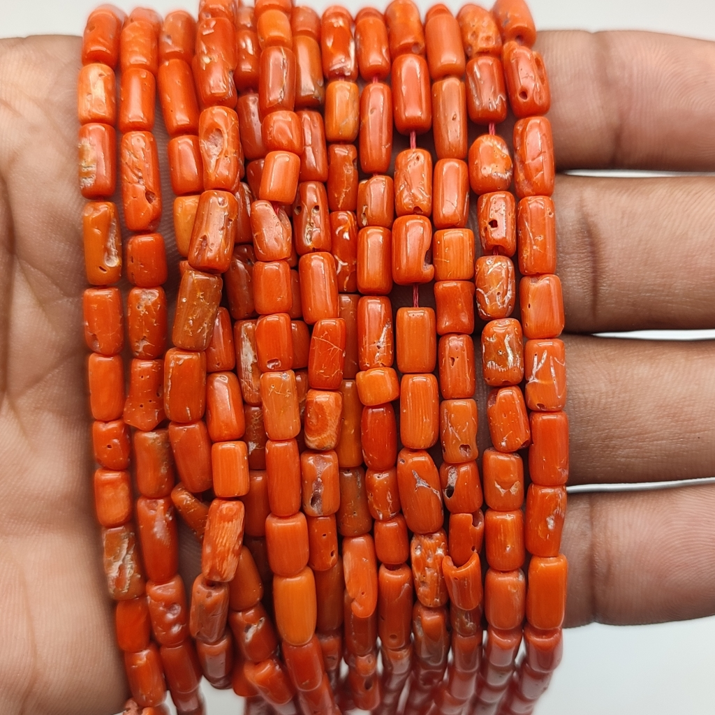 Natural Tyre Shape Coral Beads