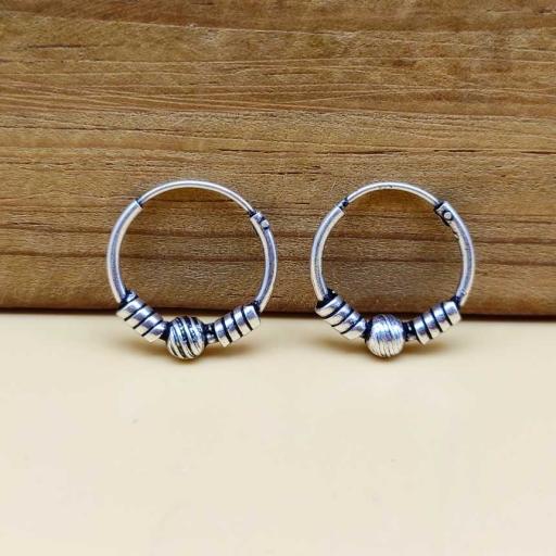 Handmade Bohemian Tribal Design 925 Sterling Silver Earring