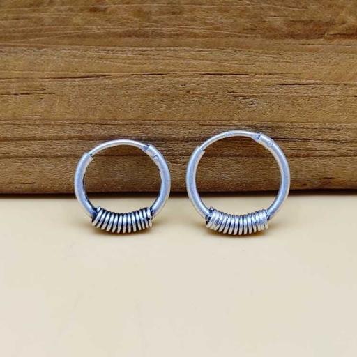 Spring Coil Designer 925 Sterling Silver Bohemian Earring