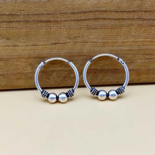 925 Sterling Silver Handmade Hoop Earring For Her