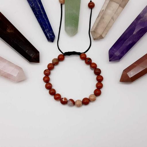 Handmade Designer Natural Jasper Gemstone Beaded Bracelet For Yoga And Meditation