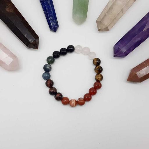 Handmade Designer Natural Multi Color Gemstone Beaded Bracelet For Yoga And Meditation