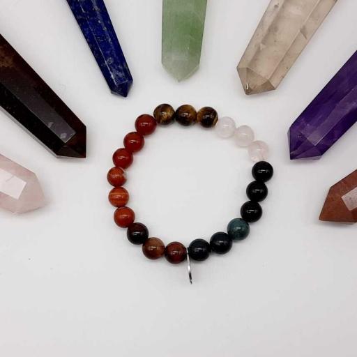 Handmade Designer Natural Mix Color Gemstone Beaded Bracelet For Yoga And Meditation