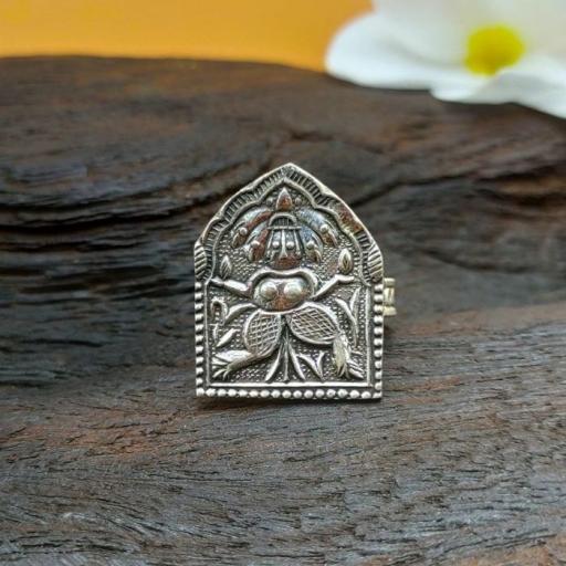 925 Sterling Silver Tribal Village God Design Adjustable Rings