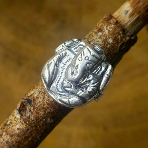 925 Sterling Silver Handmade Bohemian Tortoise  Design Silver Band Ring