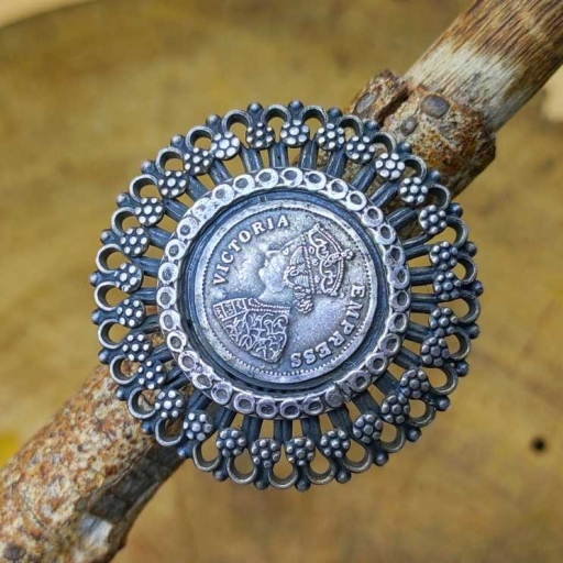 925 Sterling Silver Tribal Victoria Empress Ancient & Traditional Ring