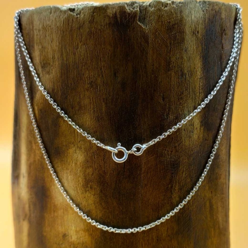 16 Inch Handmade 925 Sterling Silver Cable Chain