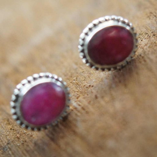 Faceted Designer Party Wear Dyed Ruby Stone 925 Sterling Silver Tops