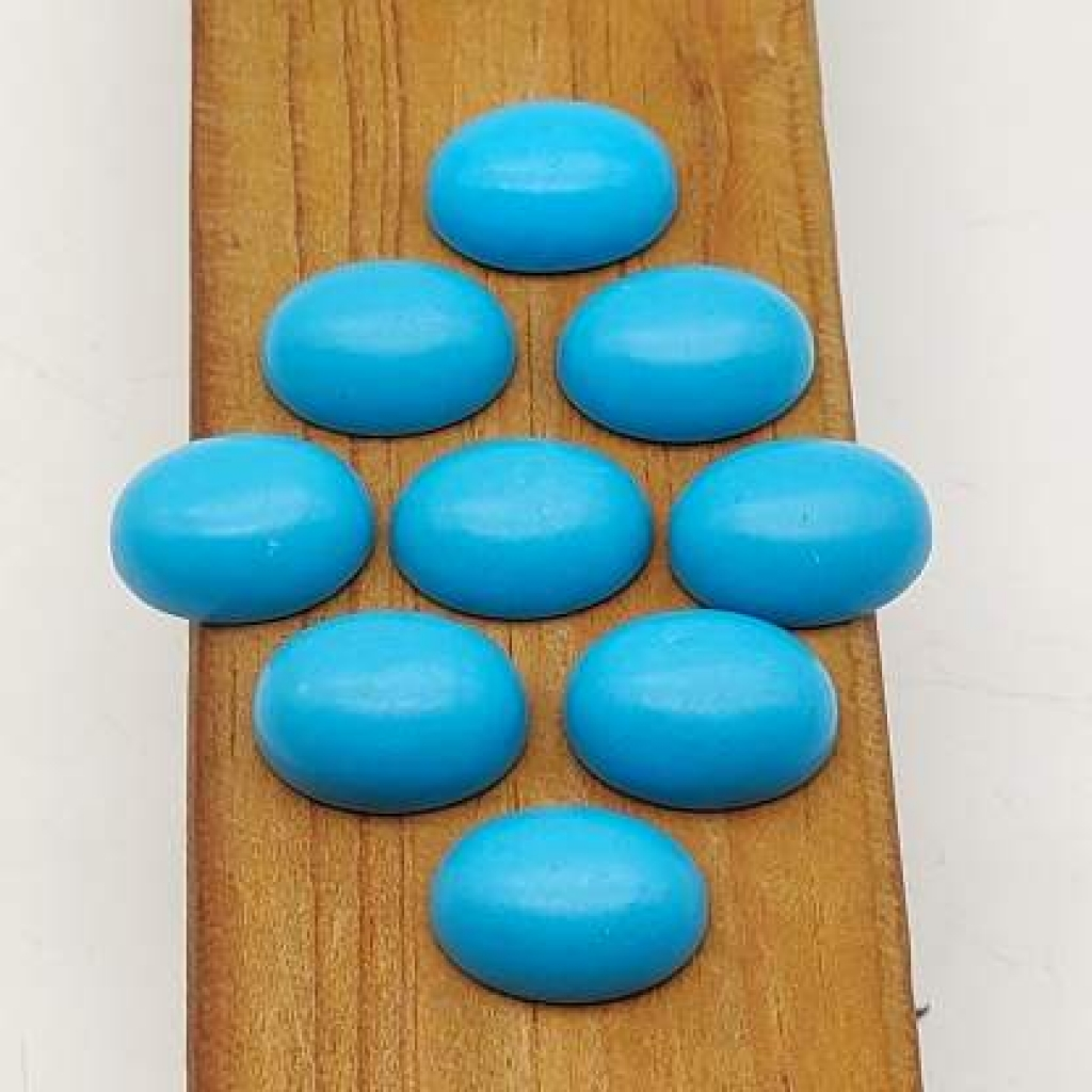 13*18mm Oval Shape Loose Manmade Sleeping Beauty Turquoise Gemstone AAA+ Quality Calibrated Cabs