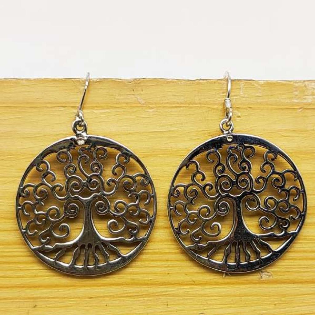 925 Sterling Silver Flower Shape Handmade Earring Jewelry